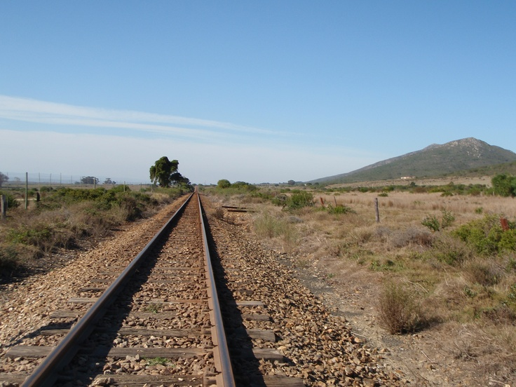 Train tracks to infinity in South Africa