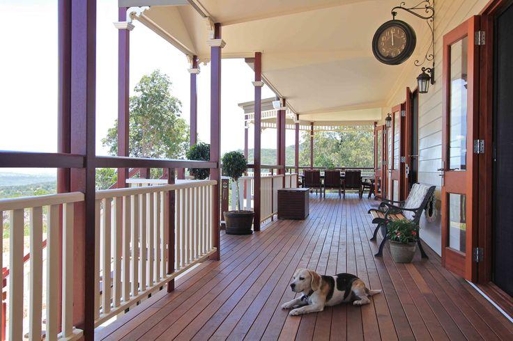 Wide verandahs....even the dog will love!