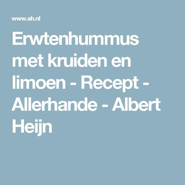 Erwtenhummus met kruiden en limoen - Recept - Allerhande - Albert Heijn