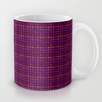 Funky Retro Pattern Mug by Sara PixelPixie - $15.00