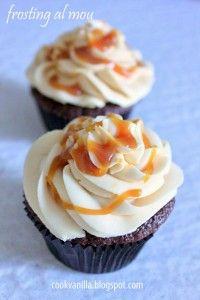 Cupcakes al caramello con frosting al caramello