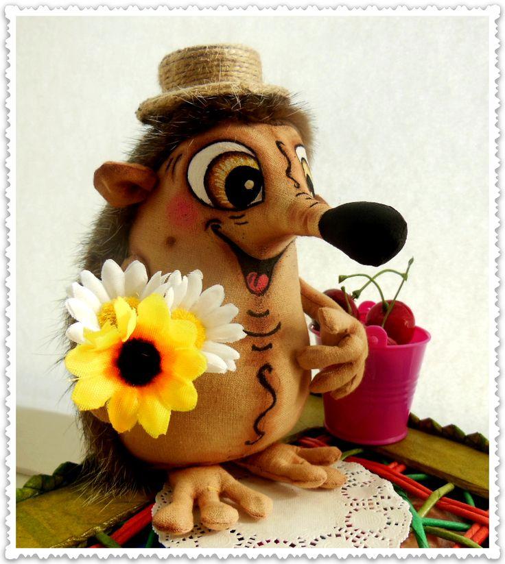 по текстильной игрушке «Счастливый ежик»