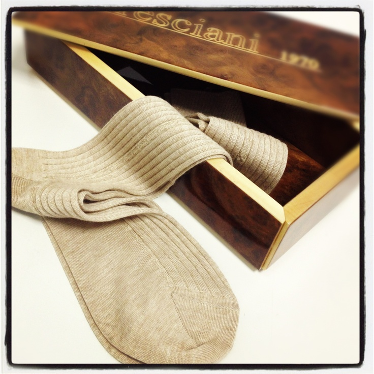 Vicuna socks in a radica box. Maybe the most exclusive sock in the world