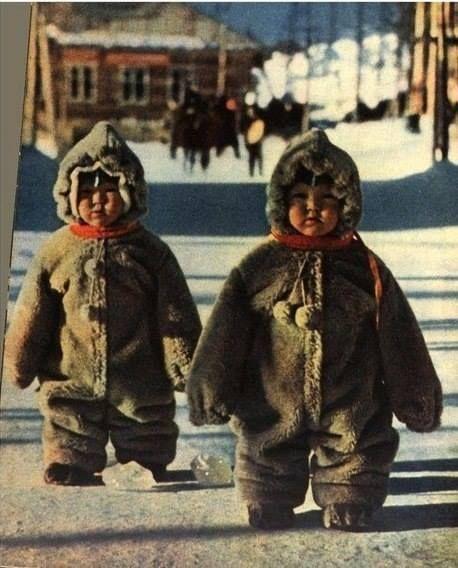 Winter in the USSR. Chukotka, Kamchatka.