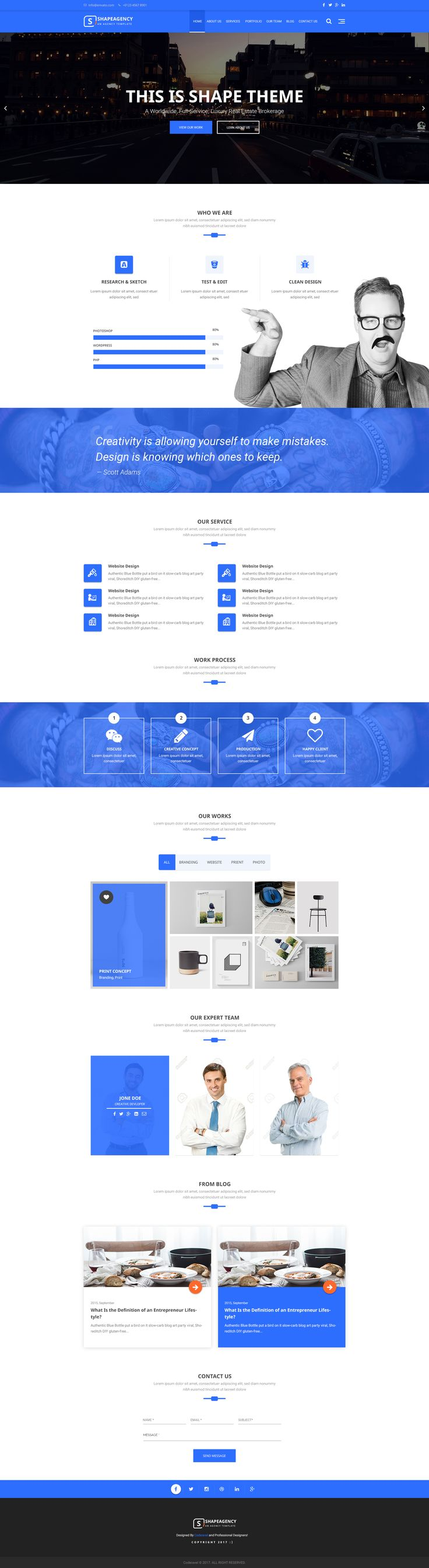 ShapeAgency An Agency PSD Theme 2595 best