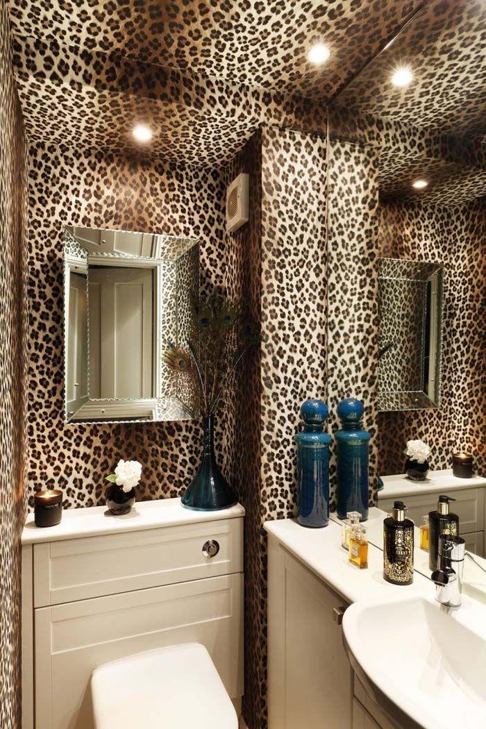 Keltainen Talo Rannalla Leopard Print, Leopard Bathroom Ideas