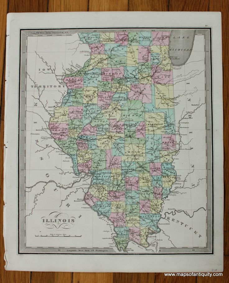 Illinois Antique Maps and Charts u2013
