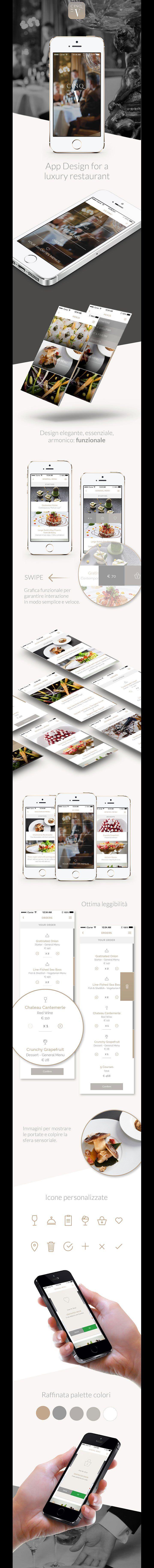App Design for a luxury restaurant app ios iphone smartphone order restaurant