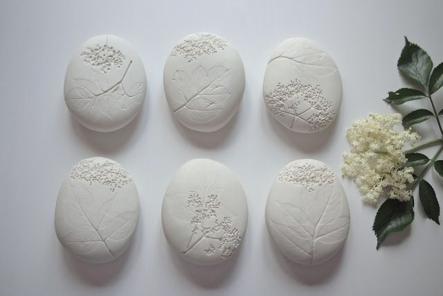❍ Porcelain herbarium stone Sambucus by Otchipotchi . June 2012