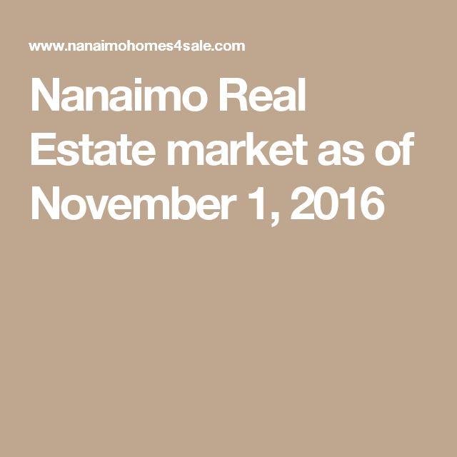 Nanaimo Real Estate market as of November 1, 2016