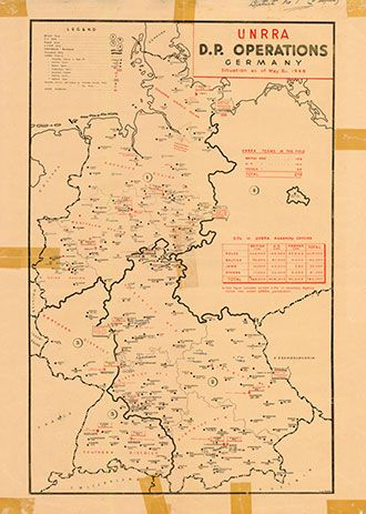 Map of DP-Operations (III 6 R), ITS, ca. 1947, ITS Bad Arolsen.