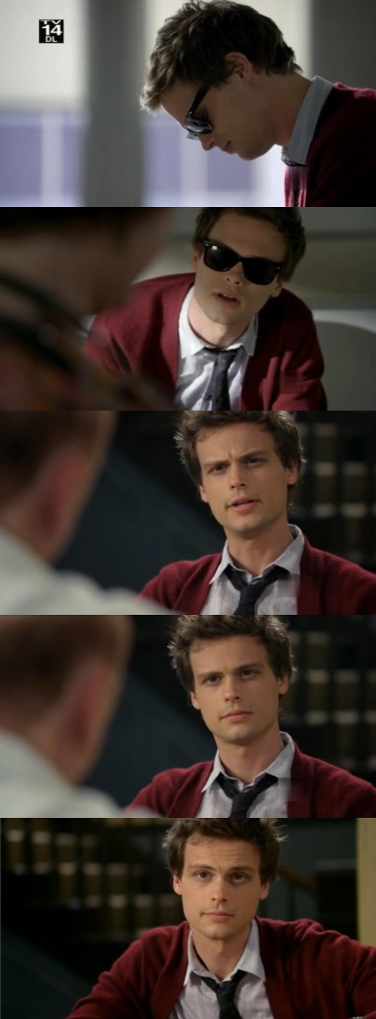 remember sixth season when Matthew Gray Gubler was a hottie mchottiepants and had short hair and wore sunglasses and pretty much solved crime with his beautiful face...yeah me too