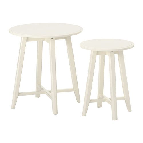 IKEA - KRAGSTA, Nesting tables, set of 2, white, , You can easily create a coordinated look by completing KRAGSTA nesting tables with the larger coffee table in the same series.