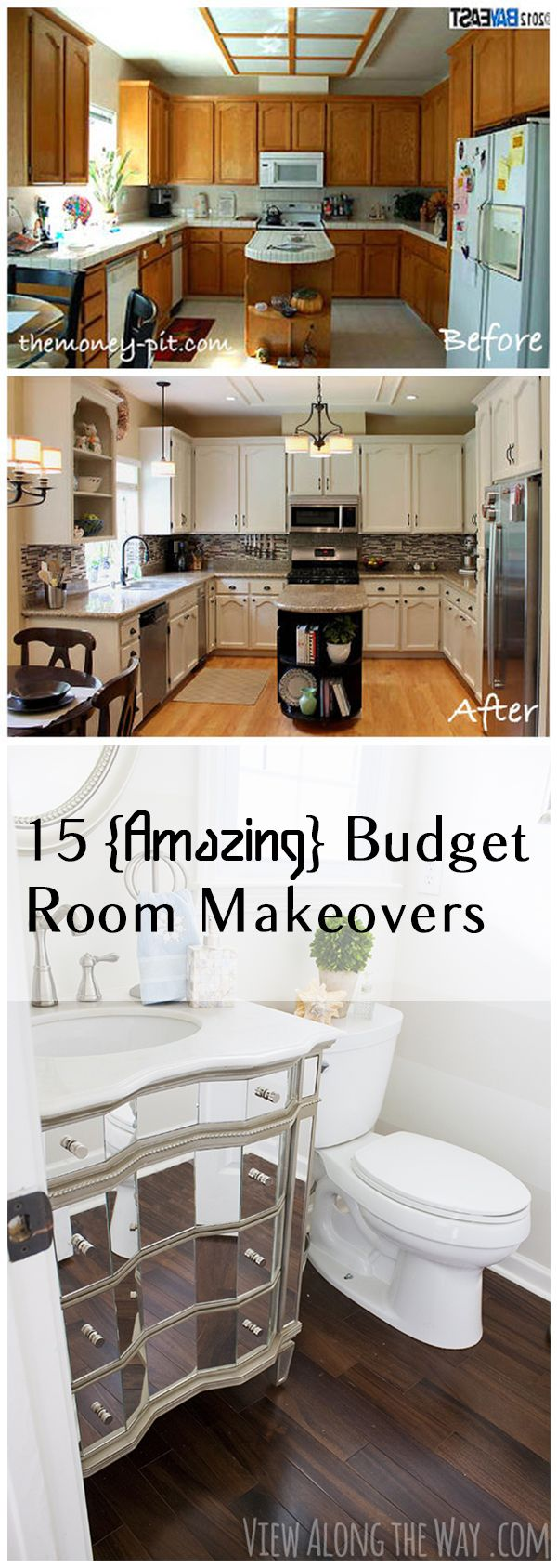 10 Amazing Budget Room Makeovers.  Awesome design and project ideas!