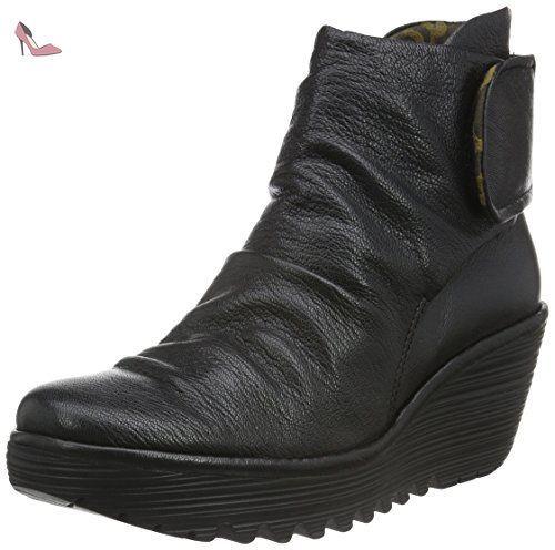 Tendance Chaussures 2017/ 2018 : Fly London Yegi689fly Bottes Classiques Femme Noir (Black 006) 38 EU  Chauss