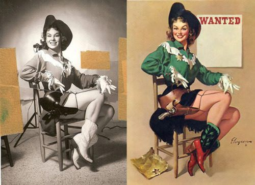 Kowgirl pin-up