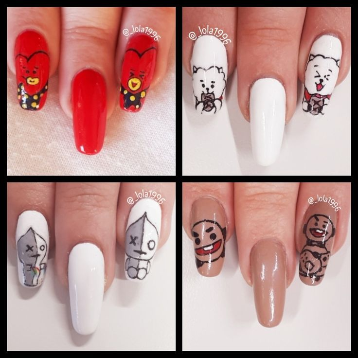 Bts nail art BT21