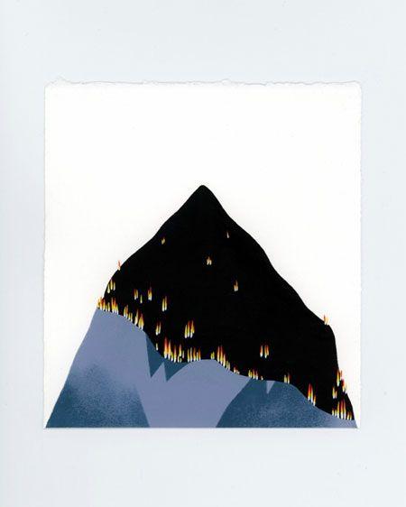 Burning mountain - Marta Orzel / Illustratrice Nantes