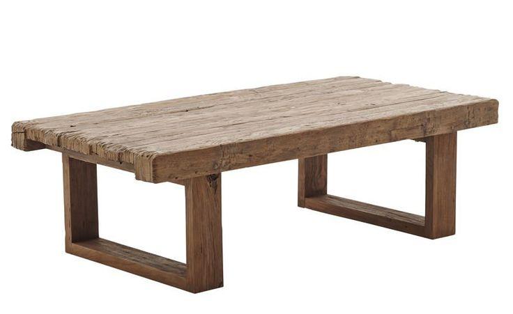 Sika-Design Alexander Sofabord - Teaktræ - Originals fra Sika Design - Rustikt sofabord fremstillet af mørkt teaktræ. Sofabordets vintage-stil vil stort set passe ind i alle indretningsstile. Bryd det pæne minimalistiske look med dette flotte og cool sofabord.