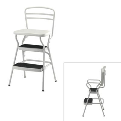 Cosco® White Chair/Step Stool - BedBathandBeyond.com