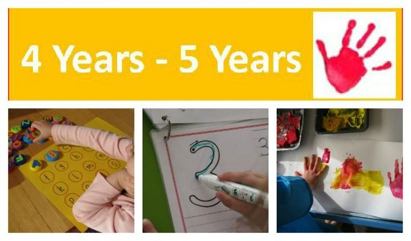 Over 60 Activities and Play Ideas for 4 Years - 5 Years {learning4kids}