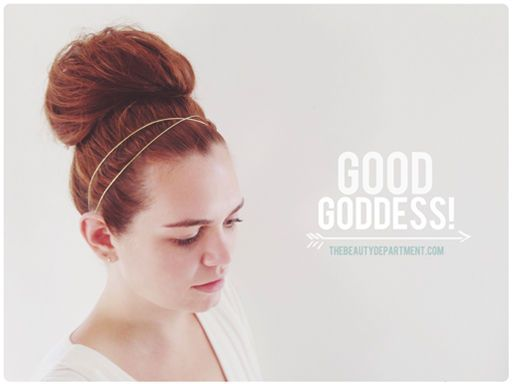 goddess bun tutorial the beauty department (all my buns look like this on accident, usually.)
