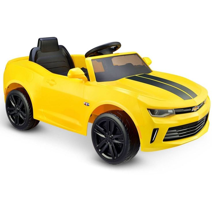 Kids Ride On Toy Electric Car Camaro RS Bumblebee Play Yellow 6V Battery Power #KidsRideOnToy