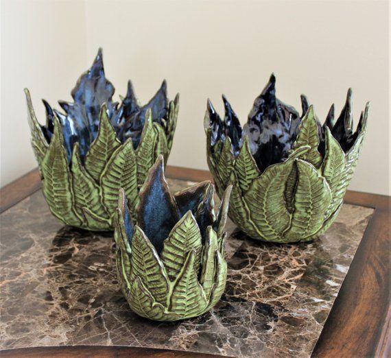 Fern Vase – Fern Decor – Woodland Decor – Ceramic Planter – Fern Gifts – Gift For Her – Anniversary Gift – Succulent Planter