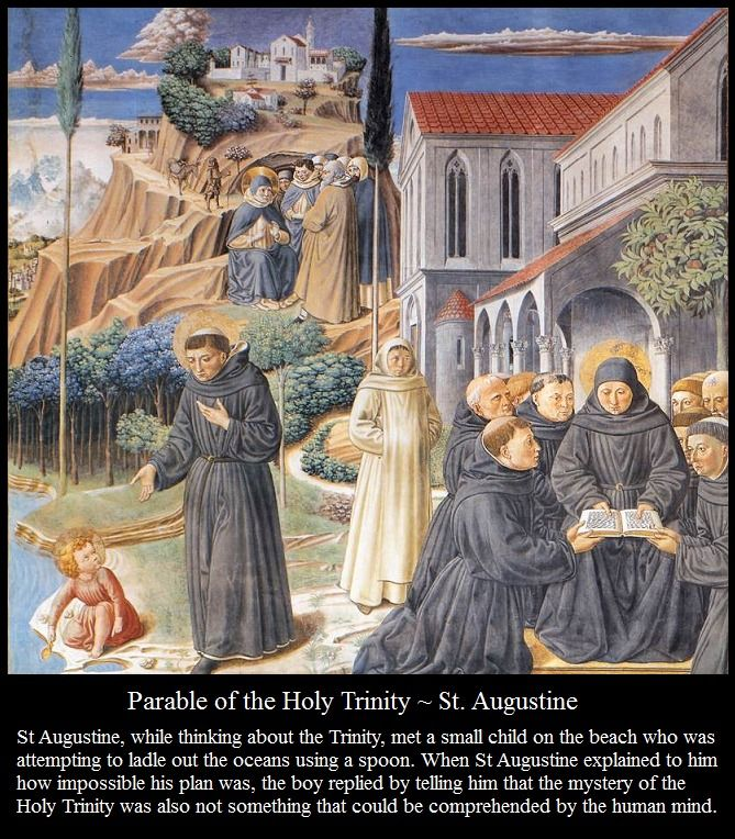 St. Augustine's parable of Holy Trinity - Art by Benozzo Gozzoli