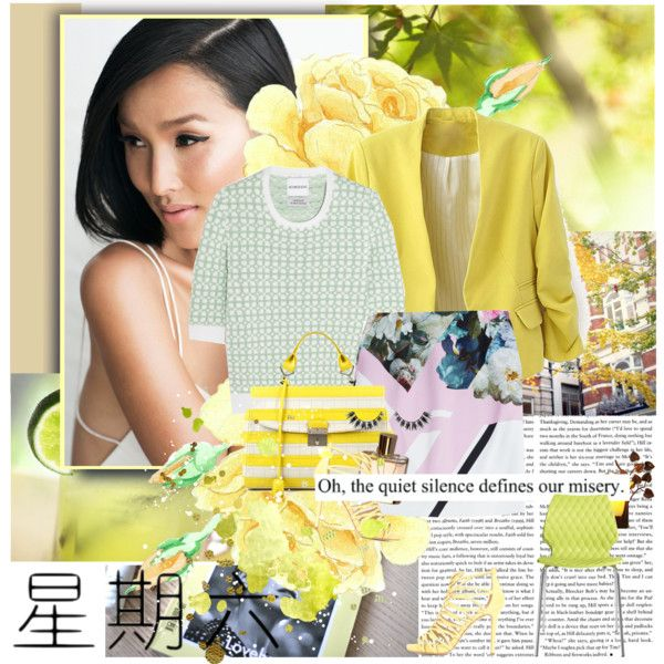 Contemplating Shades of Yellow by katerinasalvatore on Polyvore featuring moda, Alexander Lewis, Preen, Jimmy Choo, Chloé, Metalmobil and Marc Jacobs