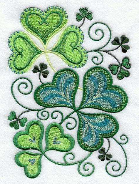 17 best images about applique st patricks day on pinterest luck of the irish shamrock tattoos. Black Bedroom Furniture Sets. Home Design Ideas