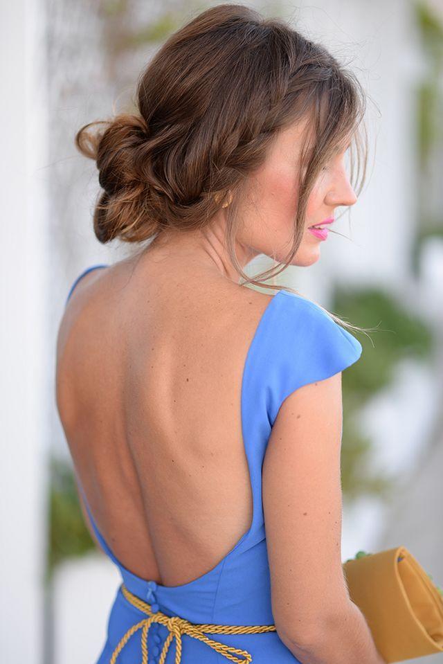 Wedding Day Mi Aventura Con La Moda Con Imagenes Peinados Para Vestidos Vestidos Bonitos De Fiesta Vestidos Boda De Dia