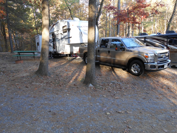 Site 81 at KOA in Natural Bridge, Va. Nice cozy campground with easy access off I-81.