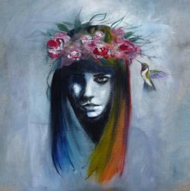 "Saatchi Art Artist Laura Beatrice Gerlini; Painting, ""Madre Natura"" #art"
