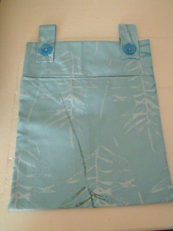 heavy duty waterproof peg bag  sturdy blue by FingerPrickingGood
