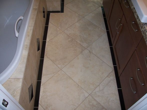 18x18 Tile In Small Bathroom Backsplash Pinterest Small Bathroom And House