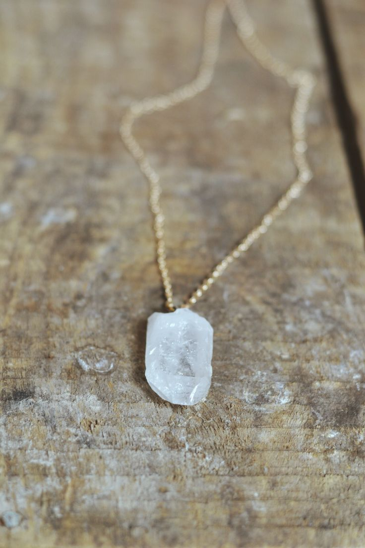 Clear Quartz on a 26 inch gold plated chain https://www.facebook.com/moonflowernz