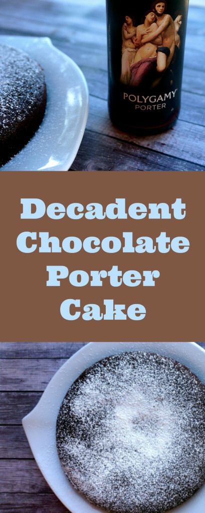 This decadent and delicious Chocolate Porter Cake gets is sweetness and moisture from a dark porter {Vegan} {Dairy Free} | Suitcase Foodist
