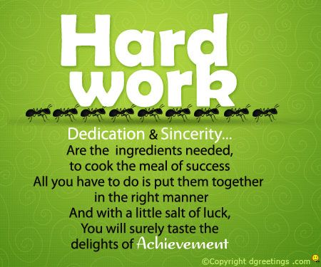 Dedication and Sincerity are the key to success