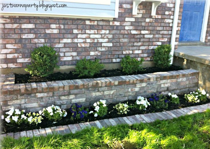 planters front yard | Then added flowers, plants and a cute little window box and I couldn't ...