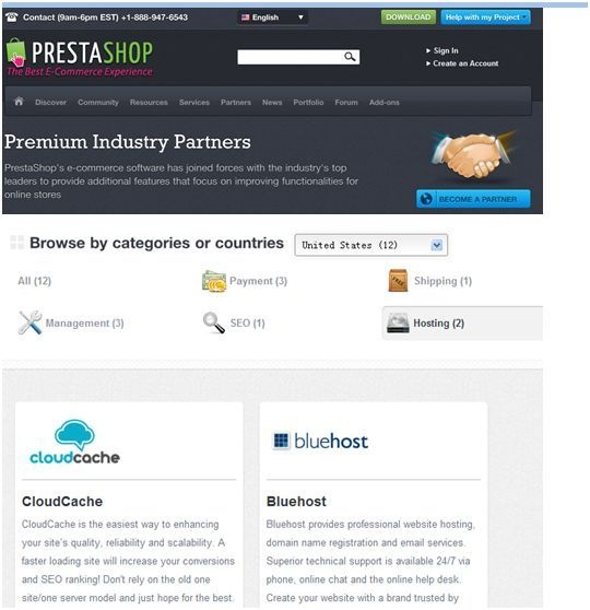 Best web hosting recommended by prestashop official
