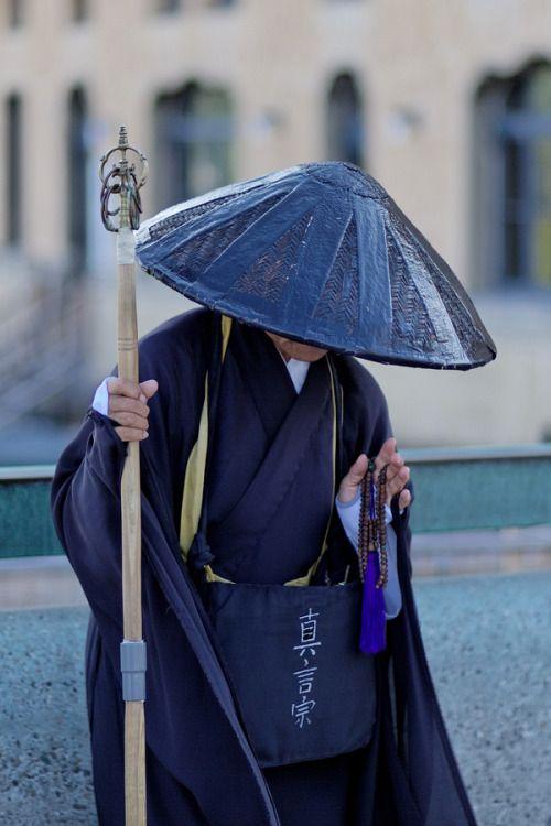 Mendicant monk, Kyoto, Japan by Florent Chevalier