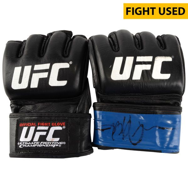 Jake Ellenberger Ultimate Fighting Championship Fanatics Authentic Autographed UFC on FOX: Johnson vs. Bader Fight-Worn Gloves - Fought Tarec Saffiedine in a Welterweight Bout - $249.99