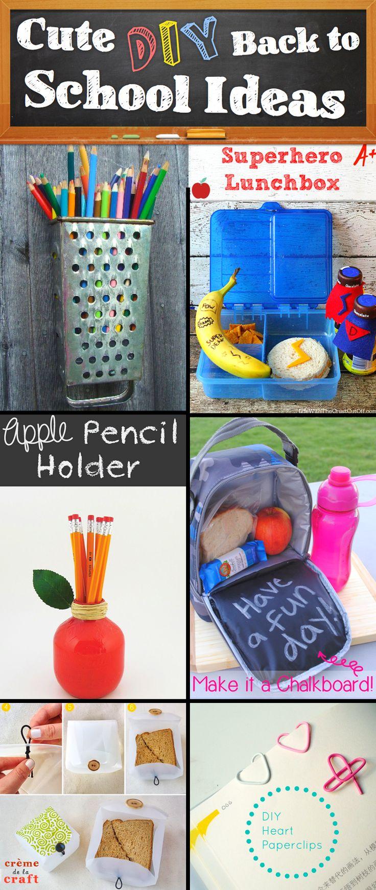 30 creative and cute diy back to school ideas diy school for Back to school decoration