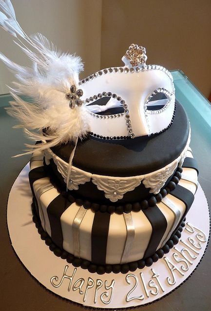 Masquerade Cake by Cre8acake, via Flickr