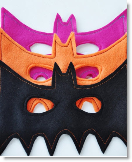Felt Bat Mask Pattern and Template · Felting | CraftGossip.com