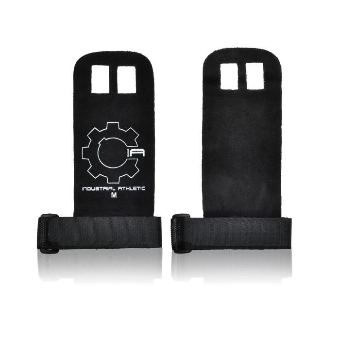 Palm Guards - Black Pair. Ripped hands from pull-ups, muscle-ups, toes-to-bar and a range of other gymnastic, CrossFit and strength exercises and drills can be the end of your training session or event. These palm guards help to protect your hands during the toughest events and WODs.  Industrial Athletic Palm Guards are made from analine Goats leather, which makes them very soft, but tough.