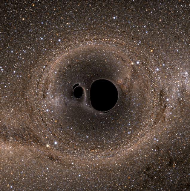 Simulación del choque entre dos agujeros negros (Cornell University, 2014)