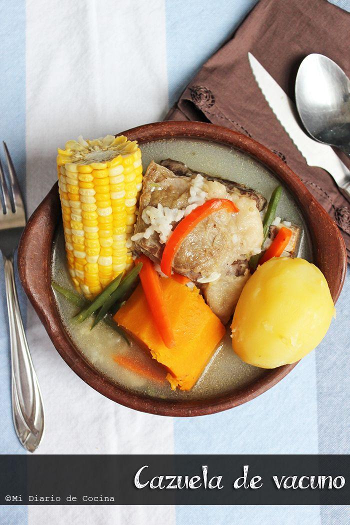 Cazuela de vacuno   Este plato invade tu cocina y tu casa de olores que pueden hacer vibrar cada parte de tu cuerpo. Es un plato reponedor, abrigador y hasta sanador.  Es uno de los platos sin duda mas criollos que puede haber, es una combinación entre la cocina española y la cocina mapuche.