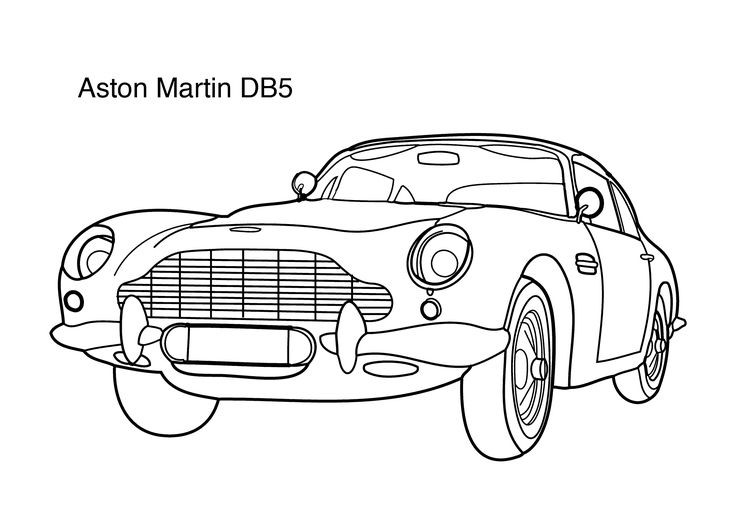 aston martin db5 coloring page
